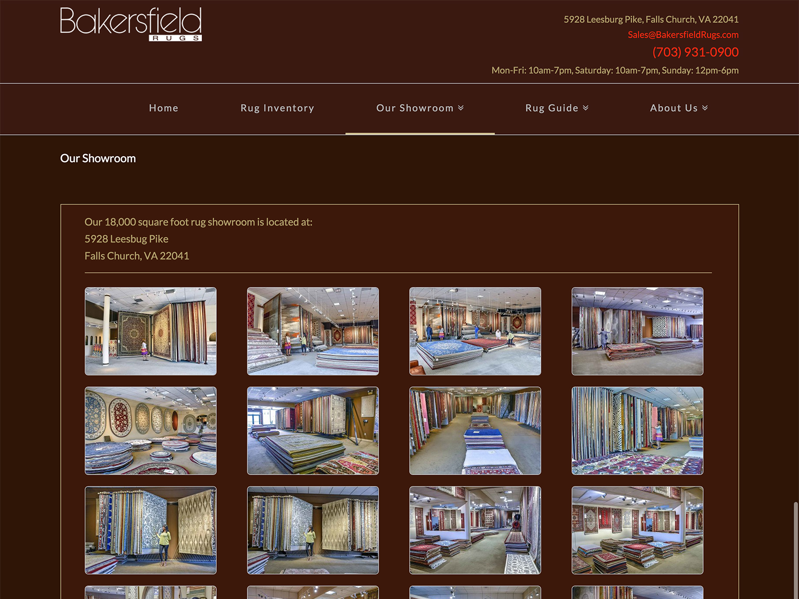 Website Redesign For Bakersfield Rugs 321 Ace